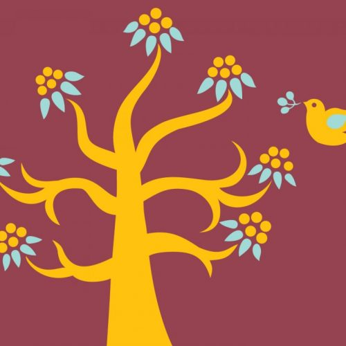 Gold Tree and Little Bird